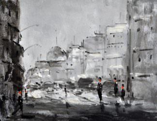 «Городской пейзаж» картина 30х40 арт.3ГР51