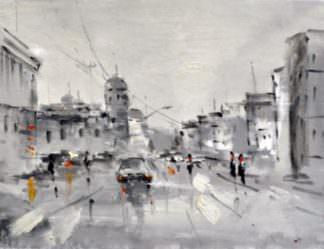 «Городской пейзаж» картина 30х40 арт.3ГР52