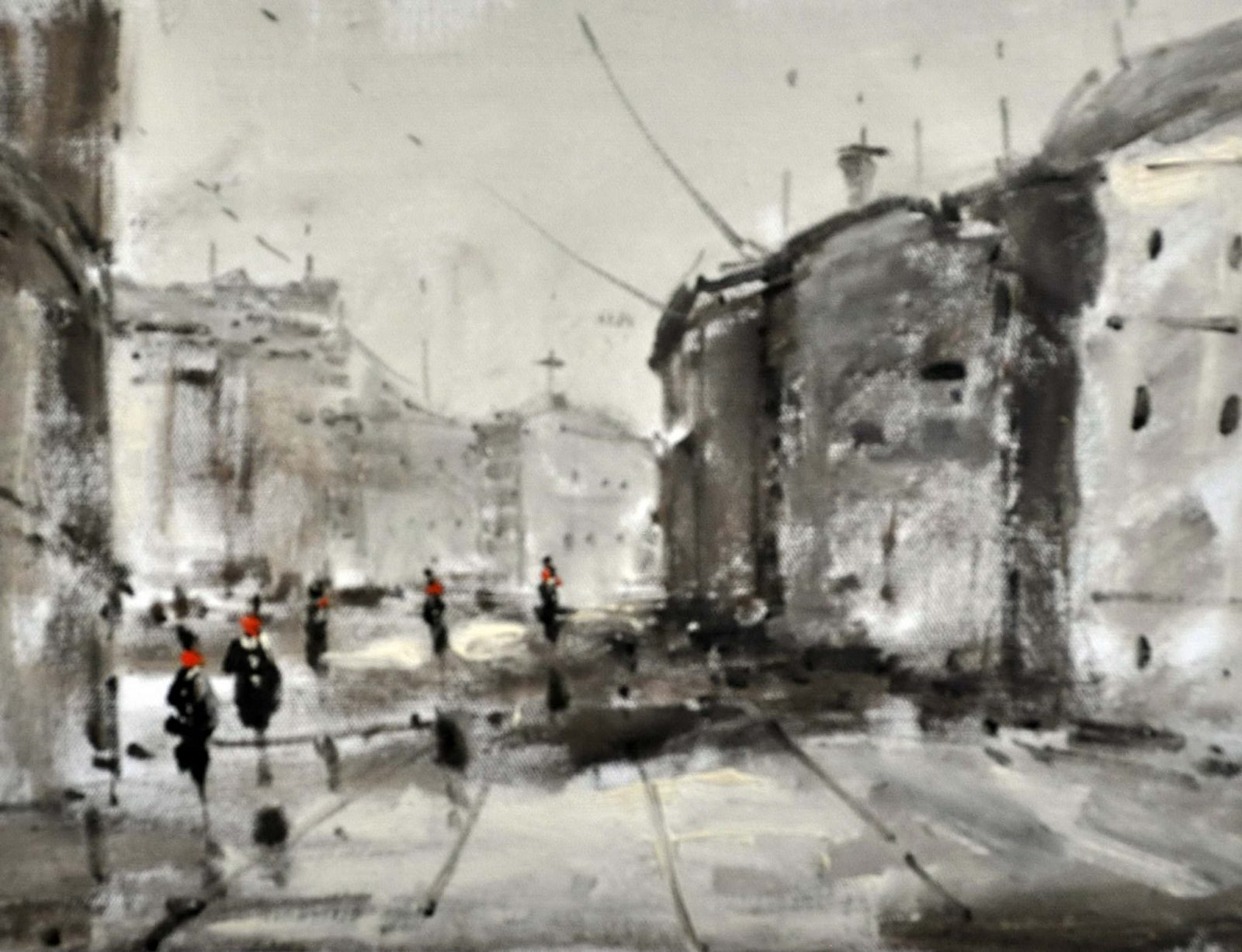 «Городской пейзаж» картина 30х40 арт.3ГР54