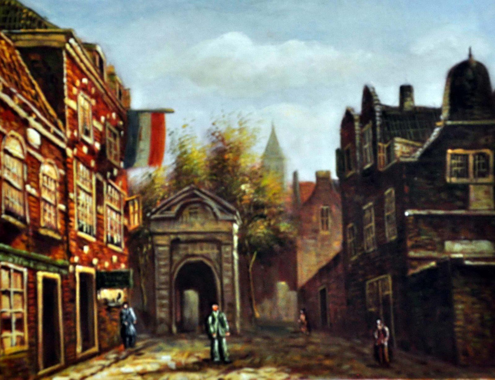«Старый город» картина 30х40 арт.3ГР55