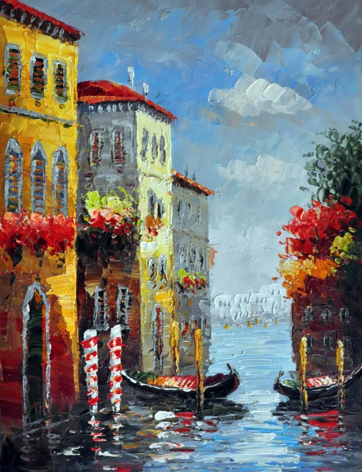 «Каналы Венеции» картина 30х40 арт.3ГР61