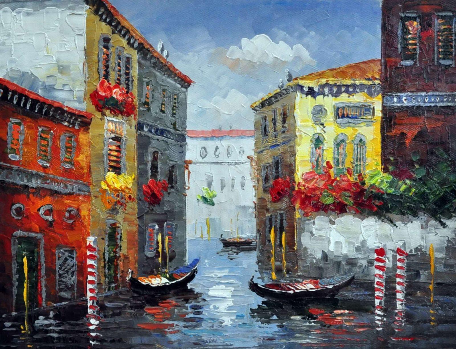 «Каналы Венеции» картина 30х40 арт.3ГР69