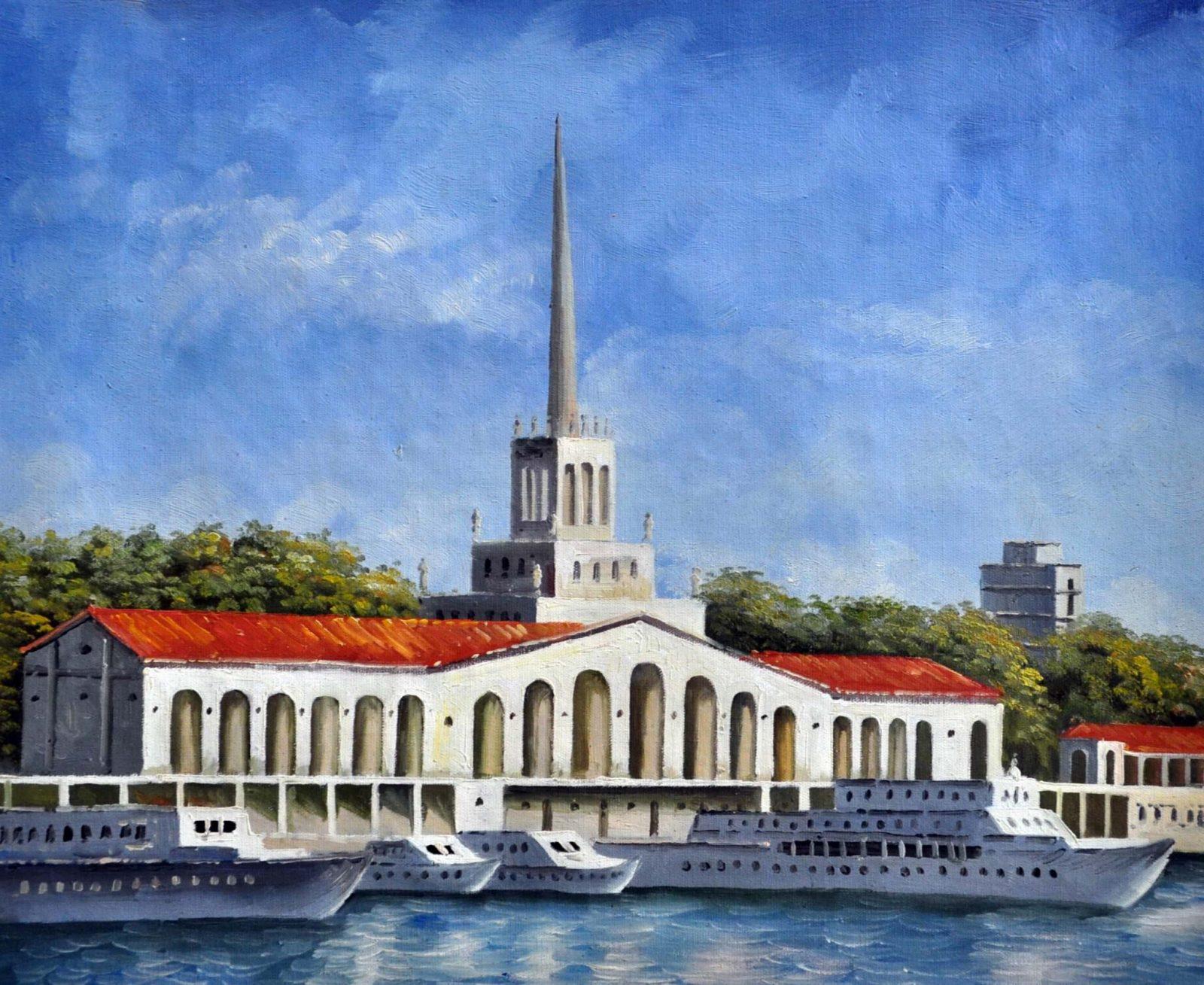«Морской вокзал. Сочи» картина 50х60 арт. 5ГР7
