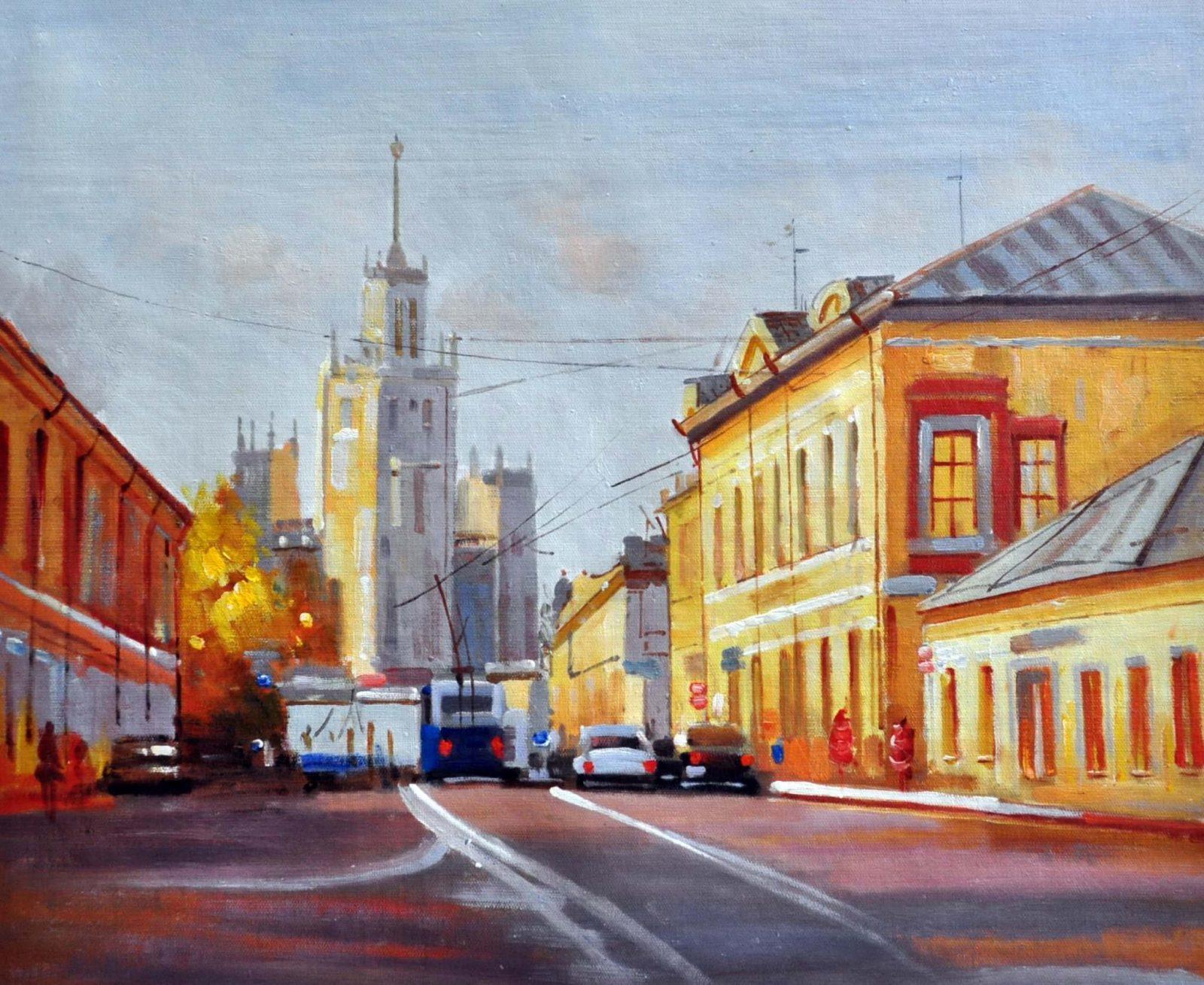 «Московские улочки» картина 50х60 арт. 5ГР43