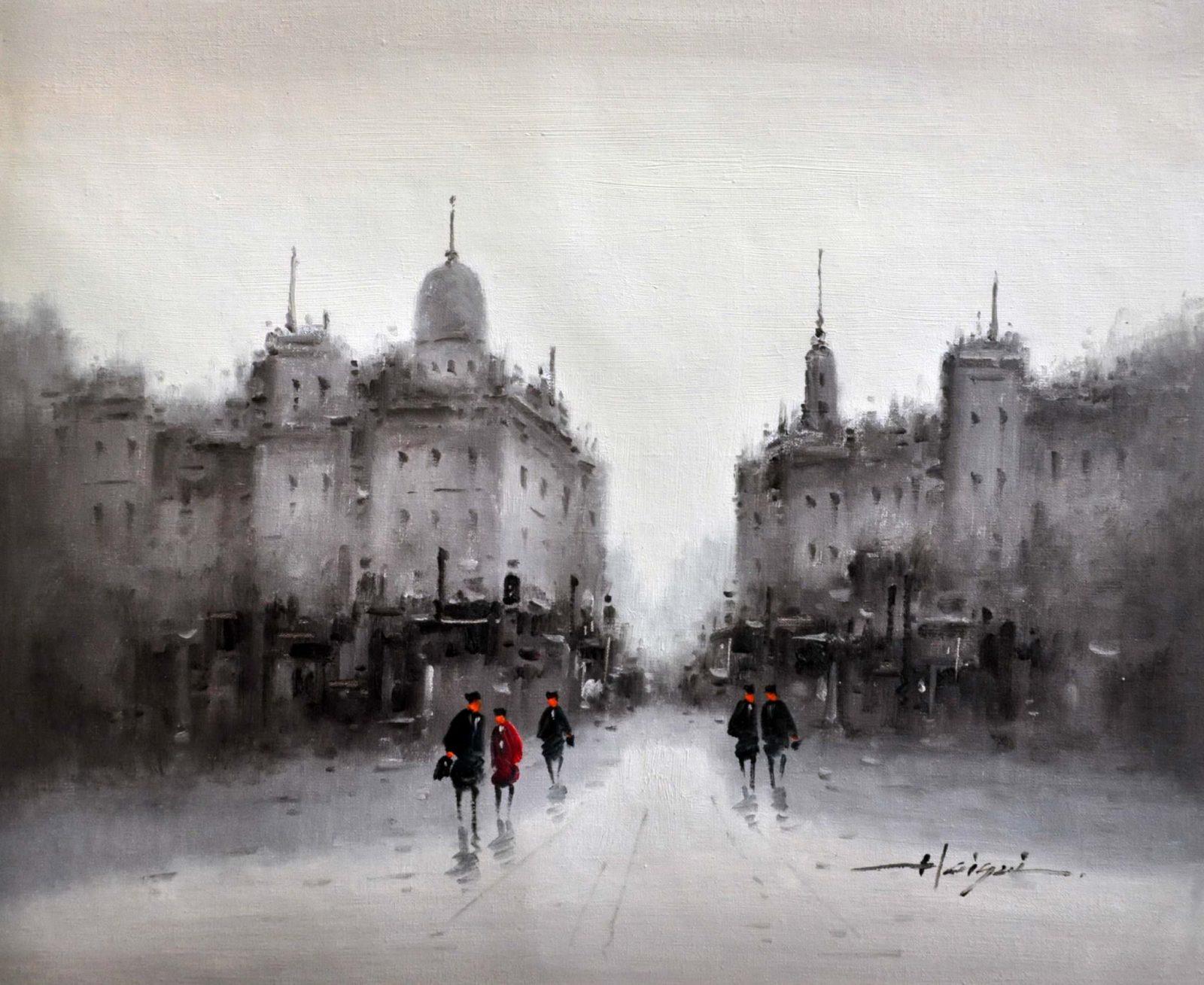 «Улицы Москвы» картина 50х60 арт. 5ГР54