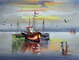 «Кораблики» картина 30х40 арт.3Л2