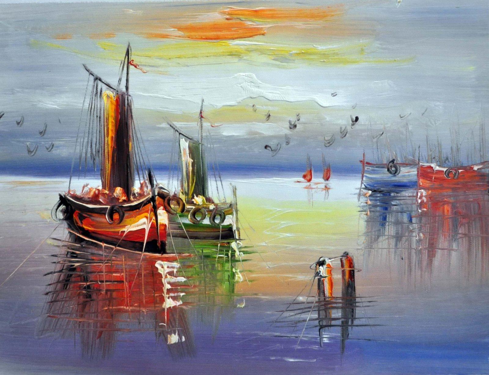 «Три лодки» картина 30х40 арт.3Л4