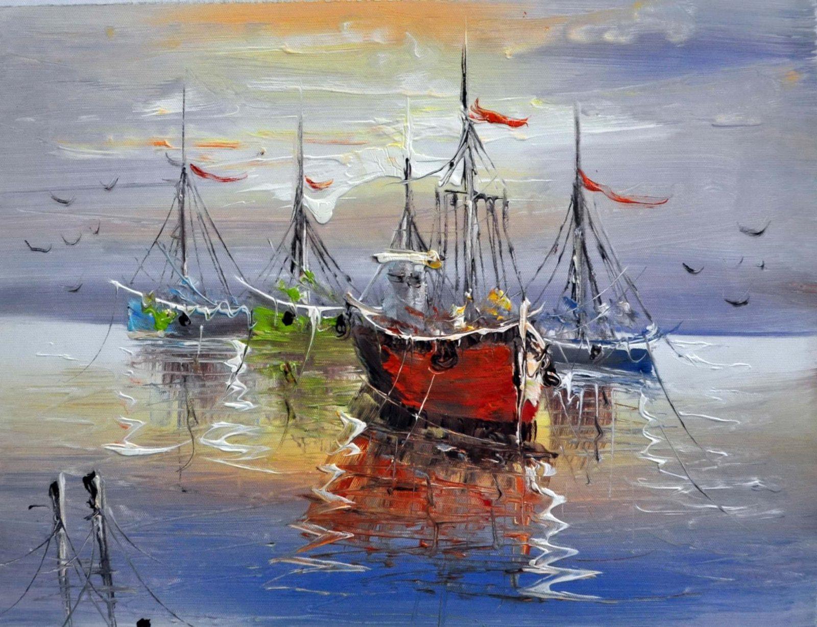 «Лодки» картина 30х40 арт.3Л8