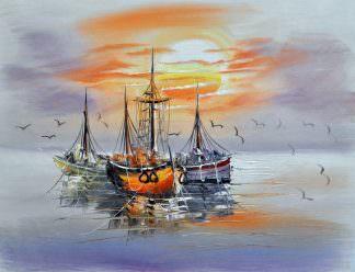 «Кораблики» картина 30х40 арт.3Л10