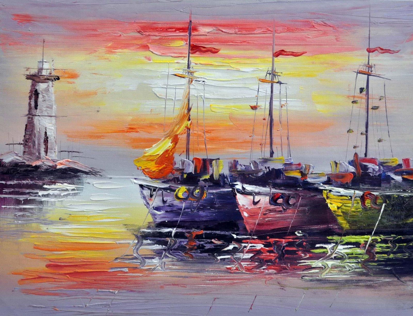 «В гавани» картина 30х40 арт.3Л13