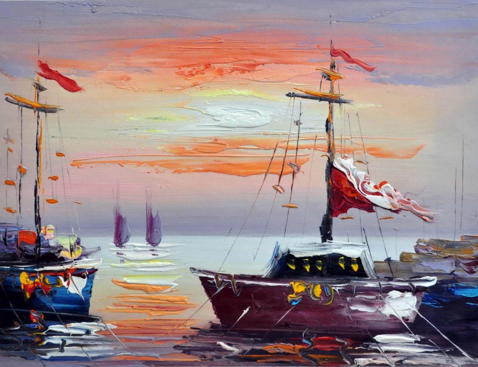 «В гавани» картина 30х40 арт.3Л14