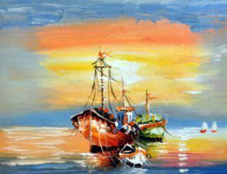 «Лодки» картина 30х40 арт.3Л15