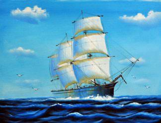 «Корабль» картина 30х40 арт.3Л16