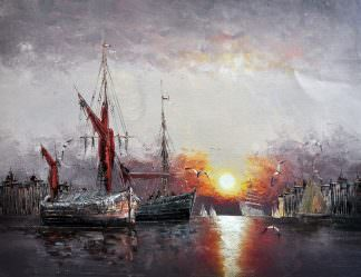 «Возвращение в порт» картина 30х40 арт.3Л20