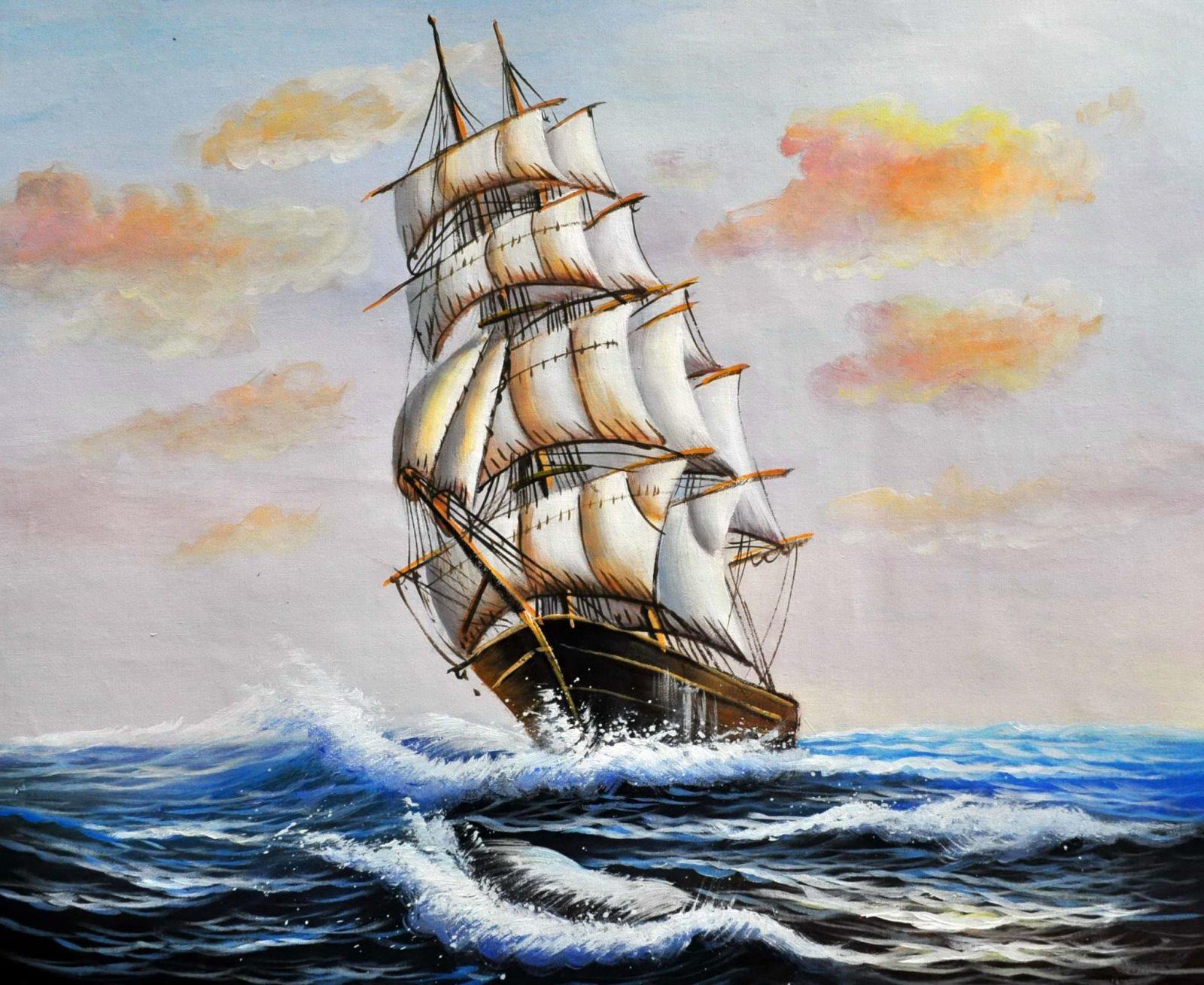 «Фрегат» картина 50х60 арт. 5Л9