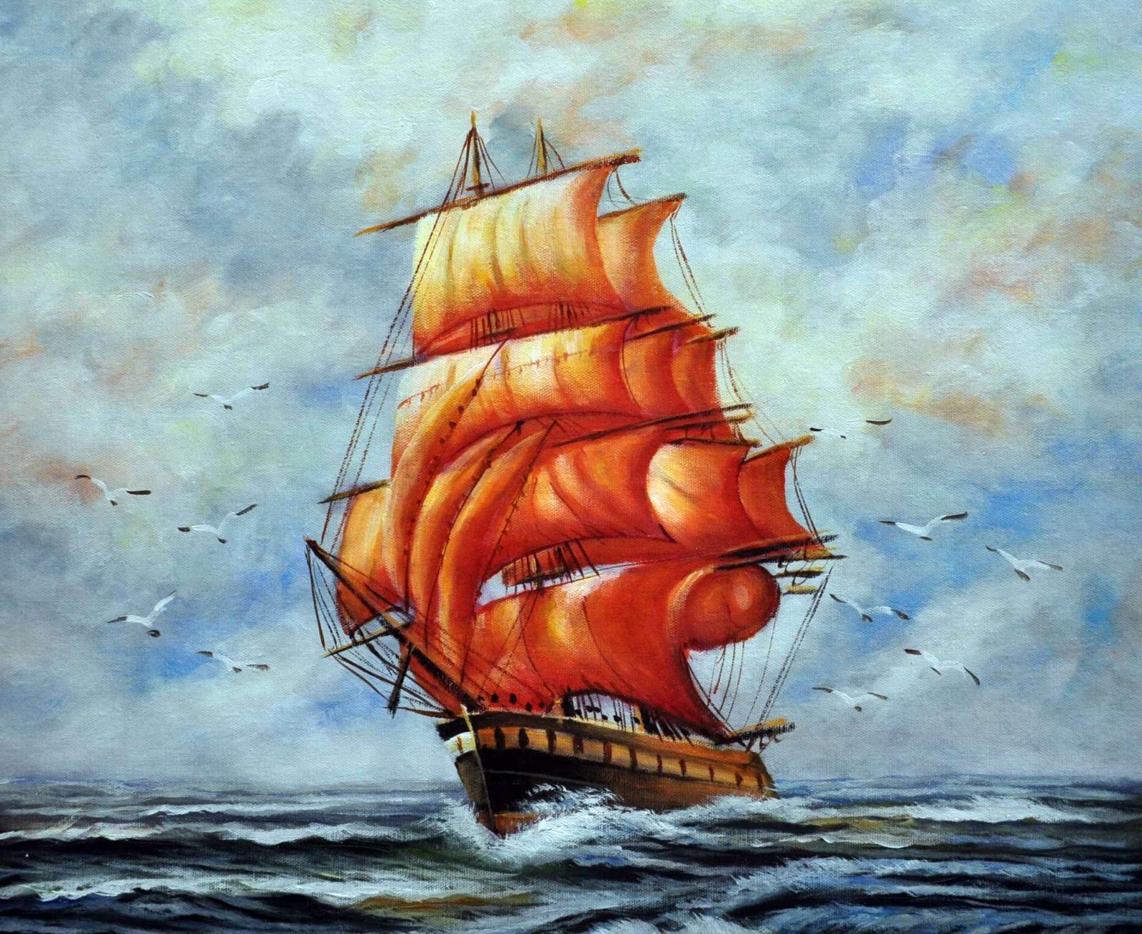 «Алые паруса» картина 50х60 арт. 5Л33