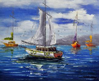 «Яхта» картина 50х60 арт. 5Л34