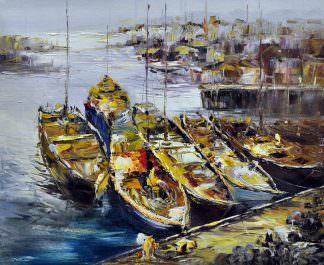 «На причале» картина 50х60 арт. 5Л38