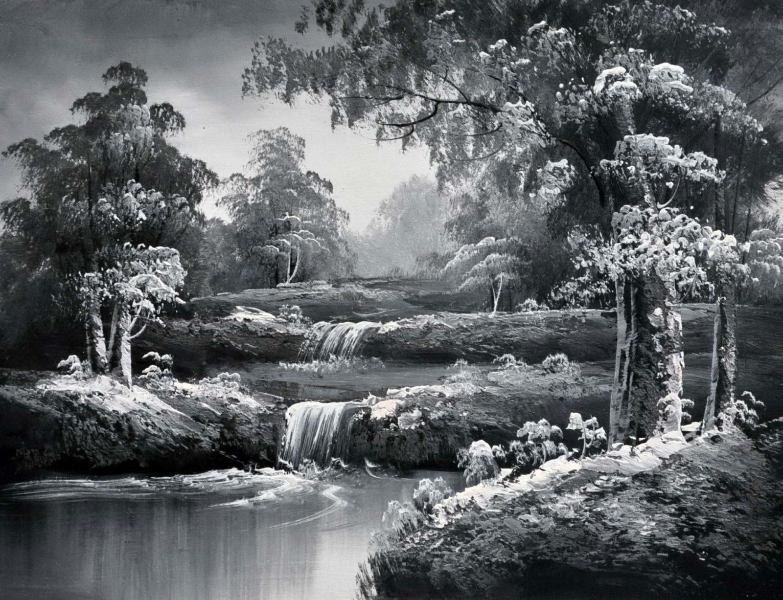 «Лесная речка» картина 30х40 арт.3М10