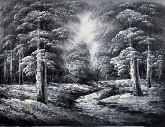 «Лесная тропа» картина 30х40 арт.3М11