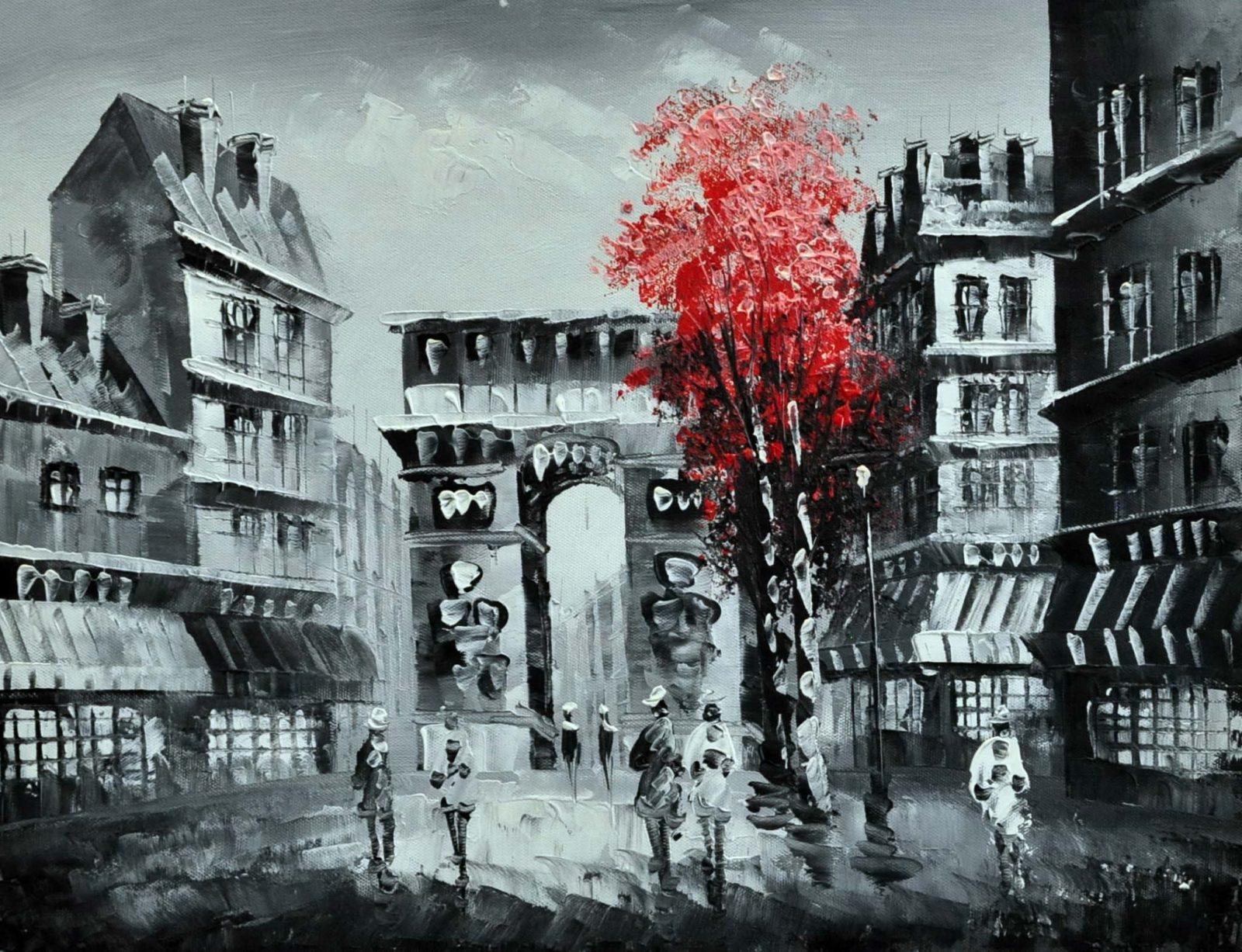 «Осень в Париже» картина 30х40 арт.3М14