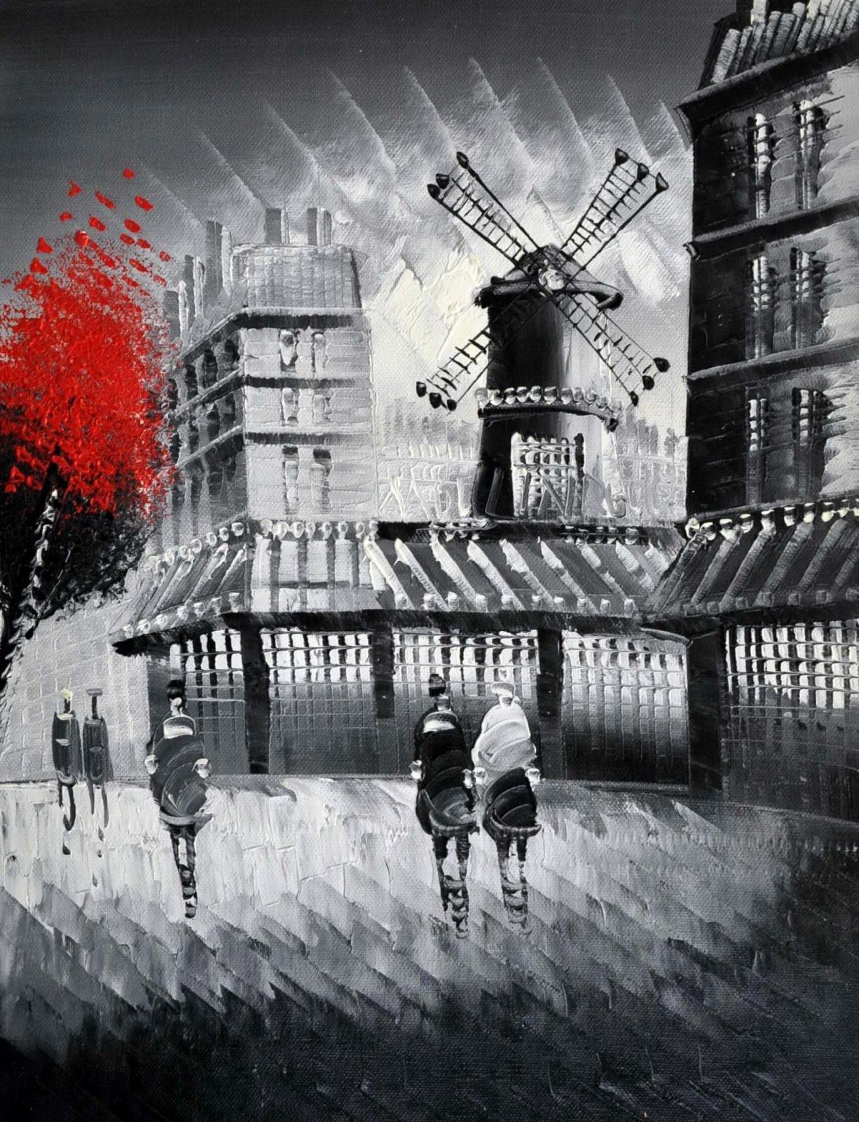 «Осень в Париже» картина 30х40 арт.3М15