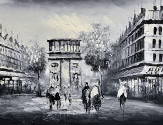 «Вид на Эйфелеву башню» картина 30х40 арт.3М18