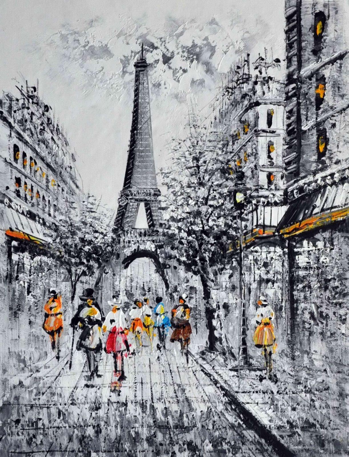 «Парижские каникулы» картина 30х40 арт.3М21