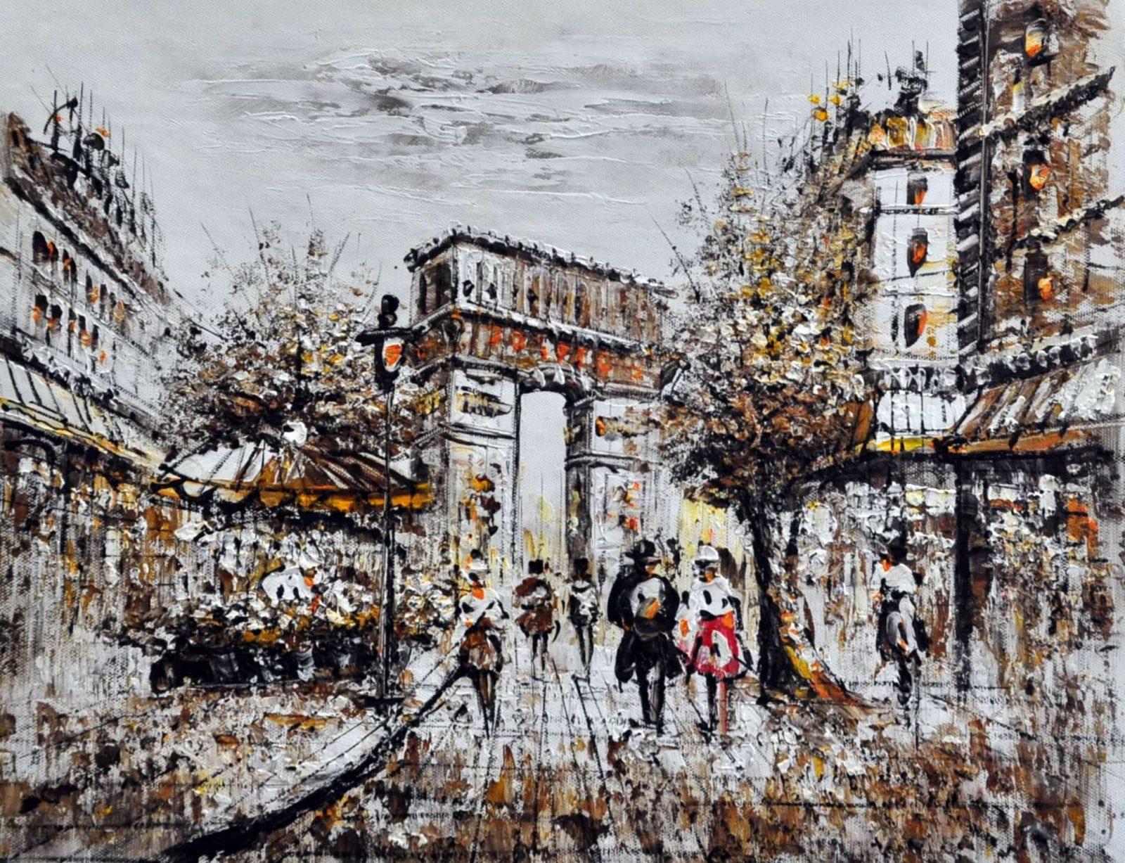 «Парижские каникулы» картина 30х40 арт.3М24