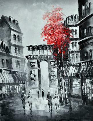 «Осень в Париже» картина 30х40 арт.3М28