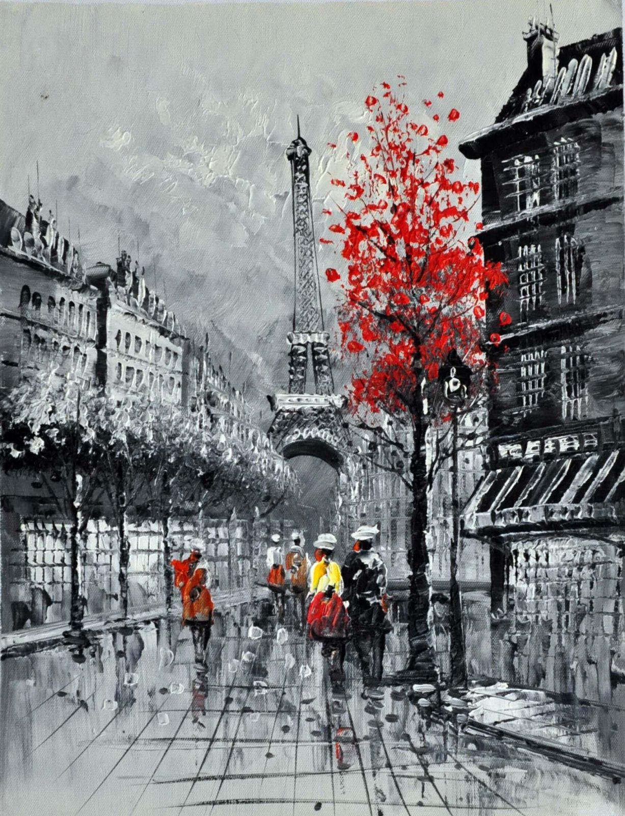 «Осень в Париже» картина 30х40 арт.3М33