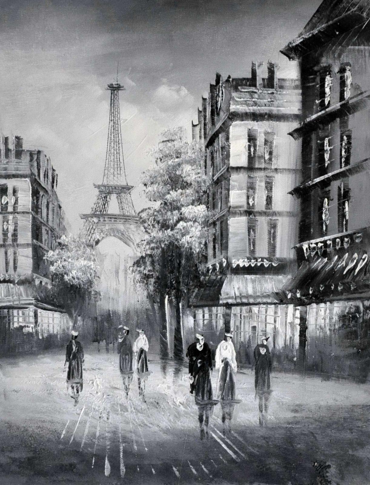 «Вид на Эйфелеву башню» картина 30х40 арт.3М34