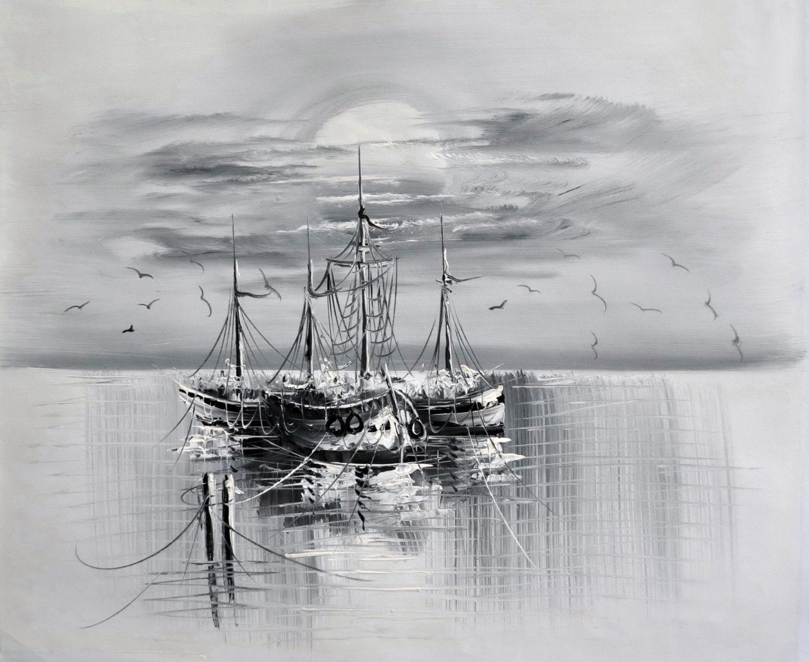 «Лодки» картина 50х60 арт. 5М6