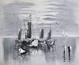 «Лодки» картина 50х60 арт. 5М7