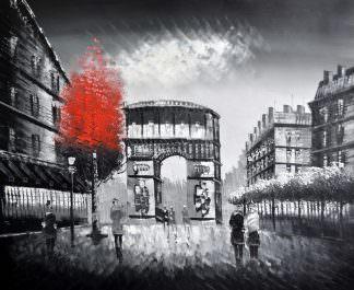 «Осень в Париже» картина 50х60 арт. 5М14