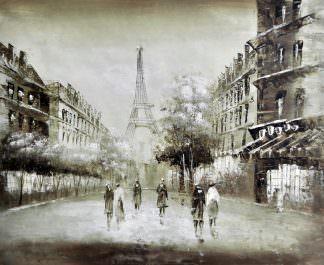 «Прогулка по Парижу» картина 50х60 арт. 5М17