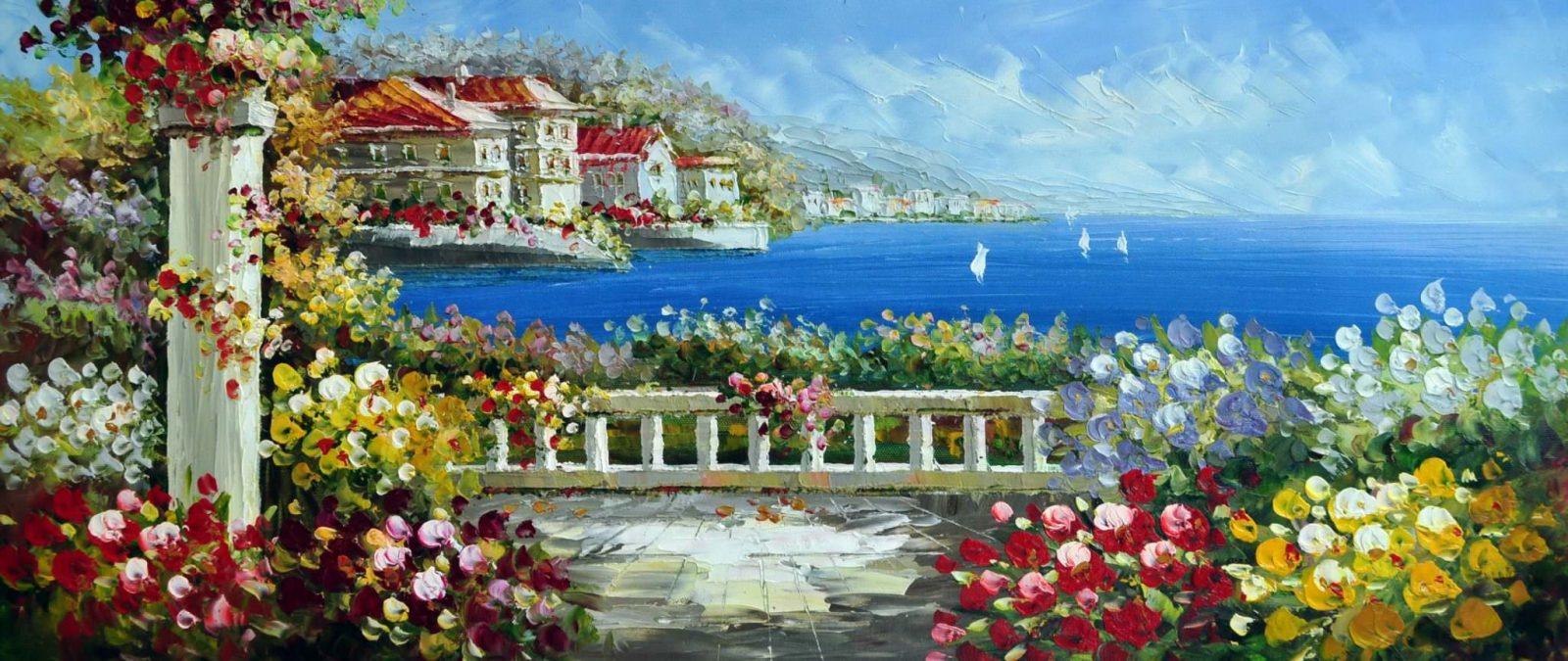 «Средиземноморье» картина 30х70 арт.7Р2