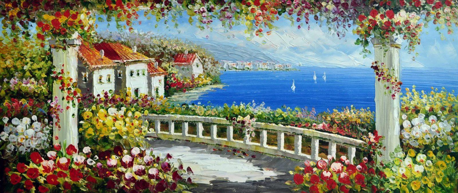 «Средиземноморье» картина 30х70 арт.7Р3