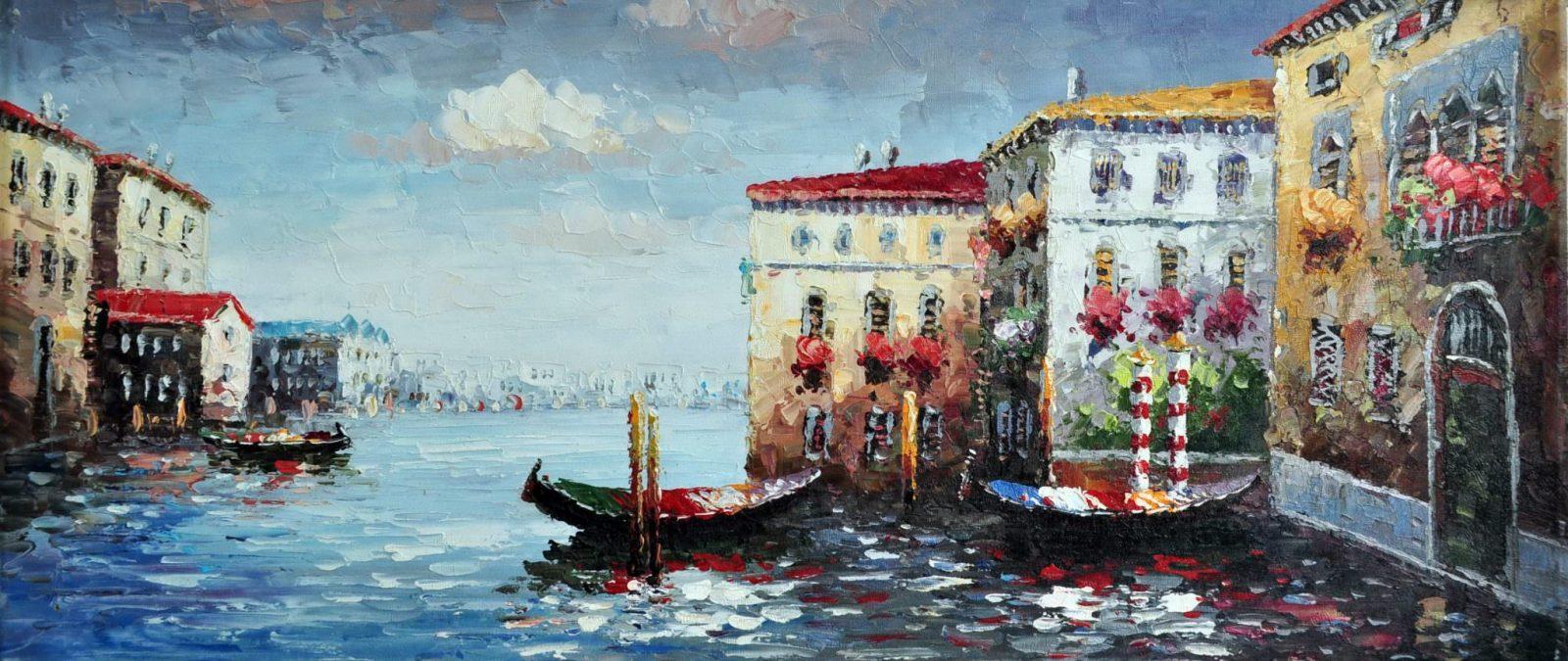 «Канал в Венеции» картина 30х70 арт.7Р11