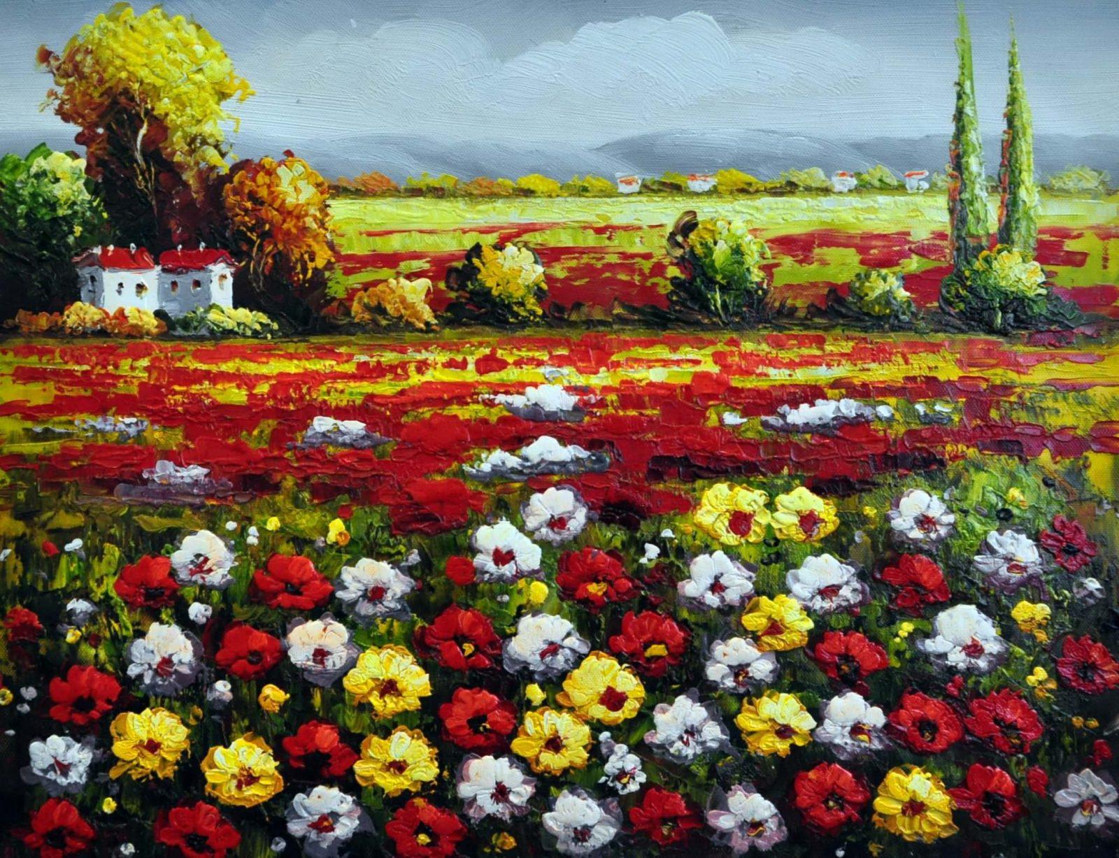 «Поле летом» картина 30х40 арт.3П2
