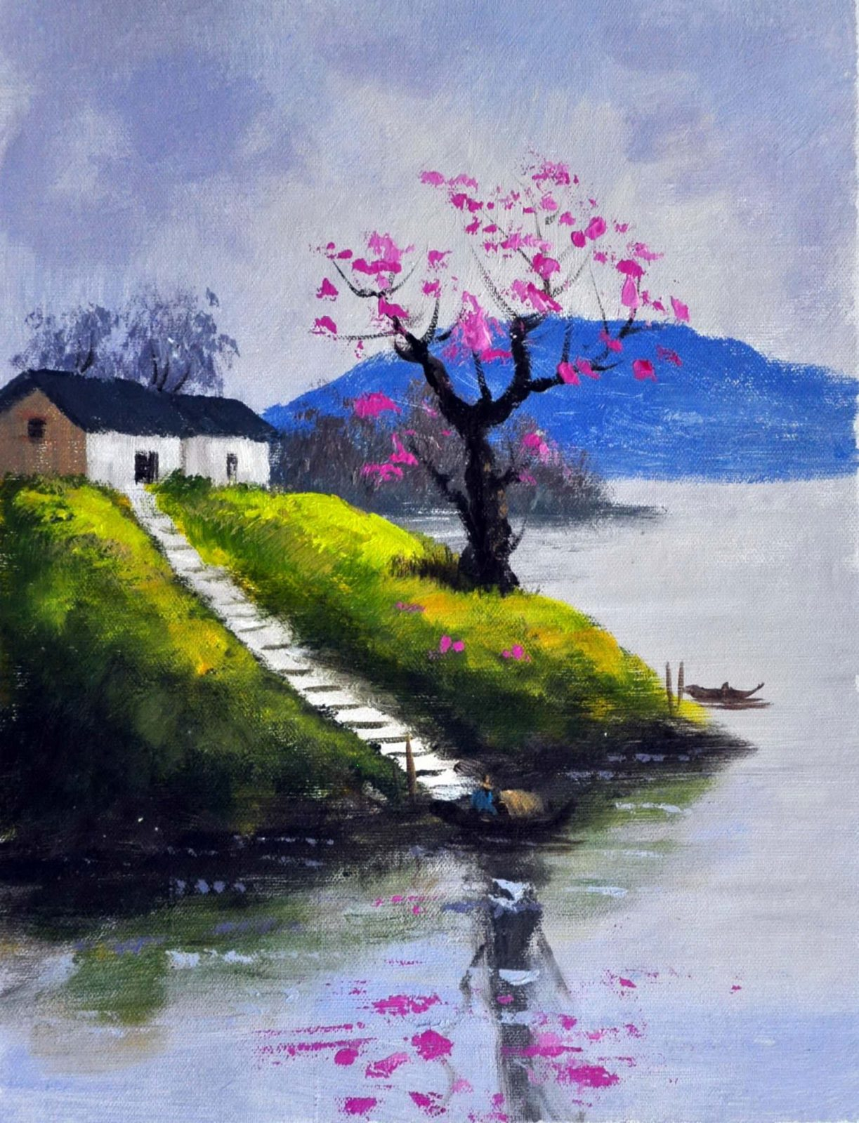 «Домик у озера» картина 30х40 арт.3П19