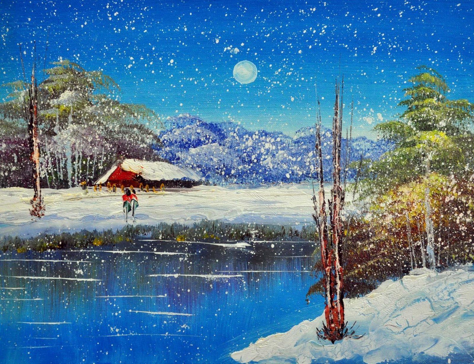 «Зимний пейзаж» картина 30х40 арт.3П22