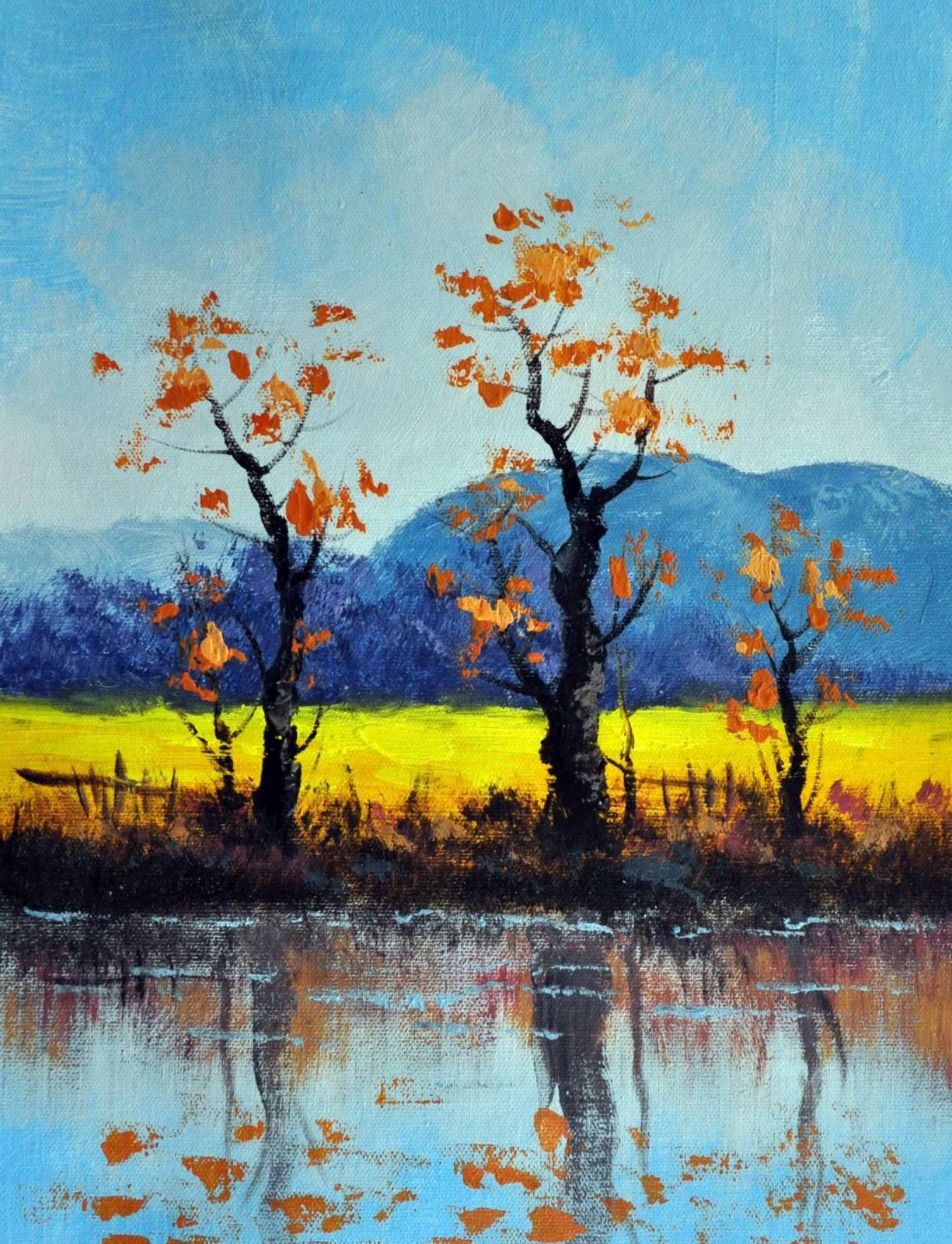 «Три дерева» картина 30х40 арт.3П27
