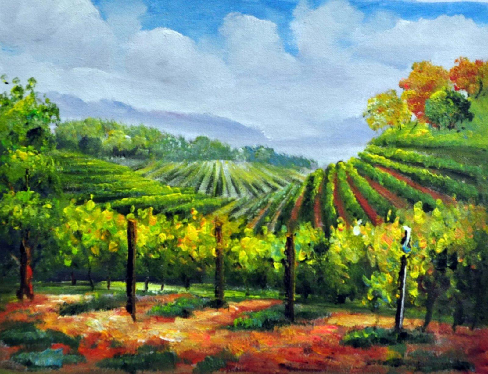 «Виноградники» картина 30х40 арт.3П28