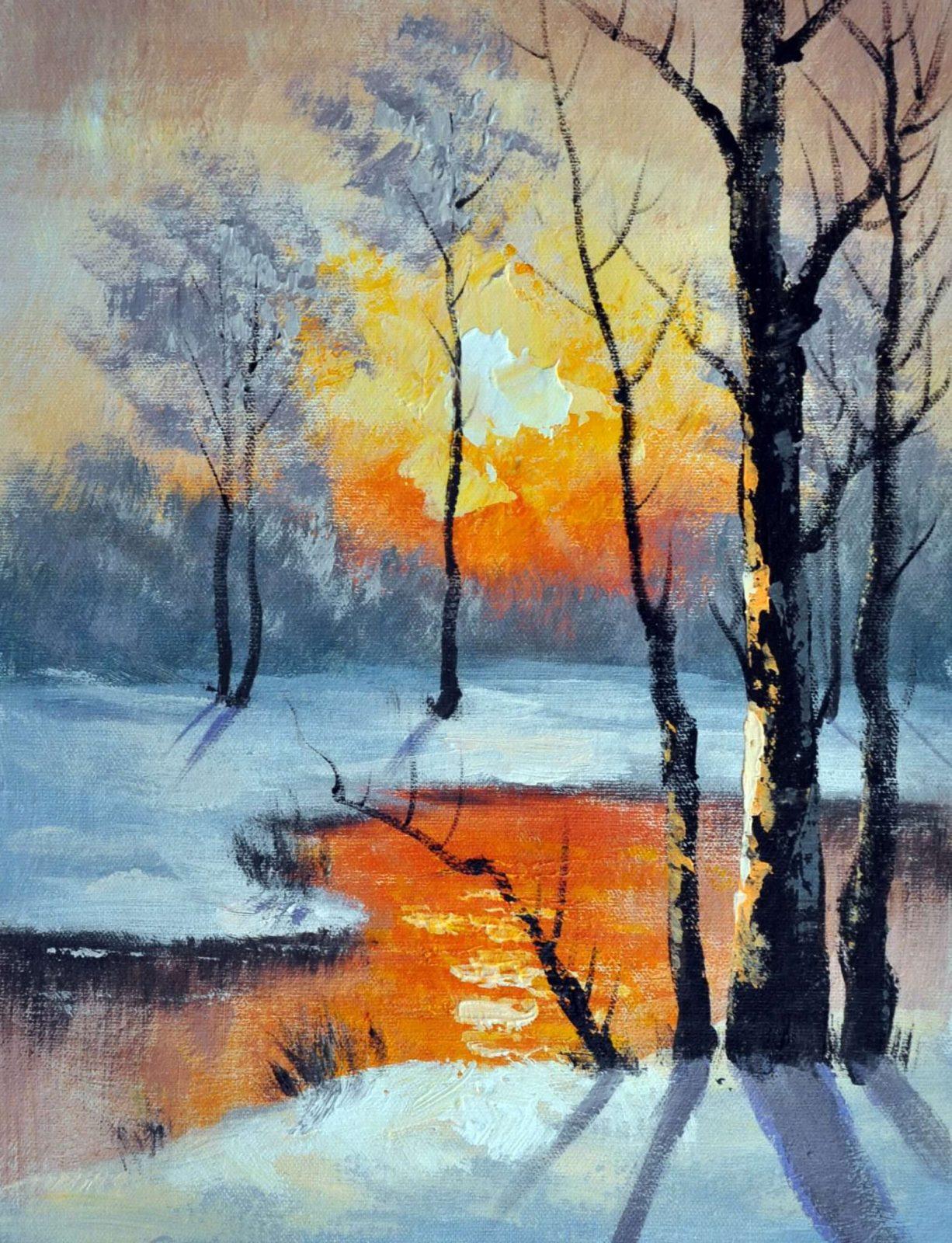«Мартовский пейзаж» картина 30х40 арт.3П30