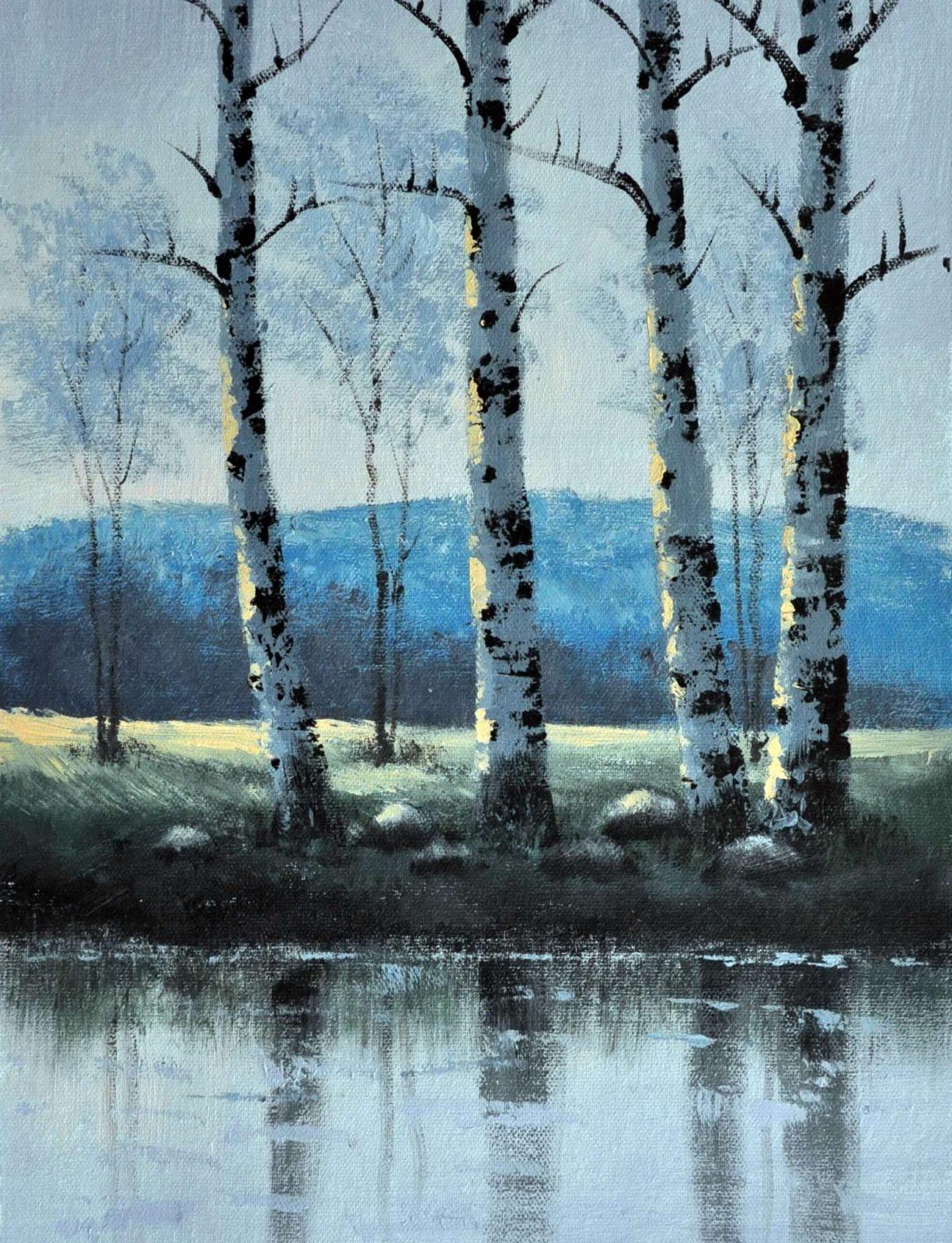 «Весенний пейзаж» картина 30х40 арт.3П31