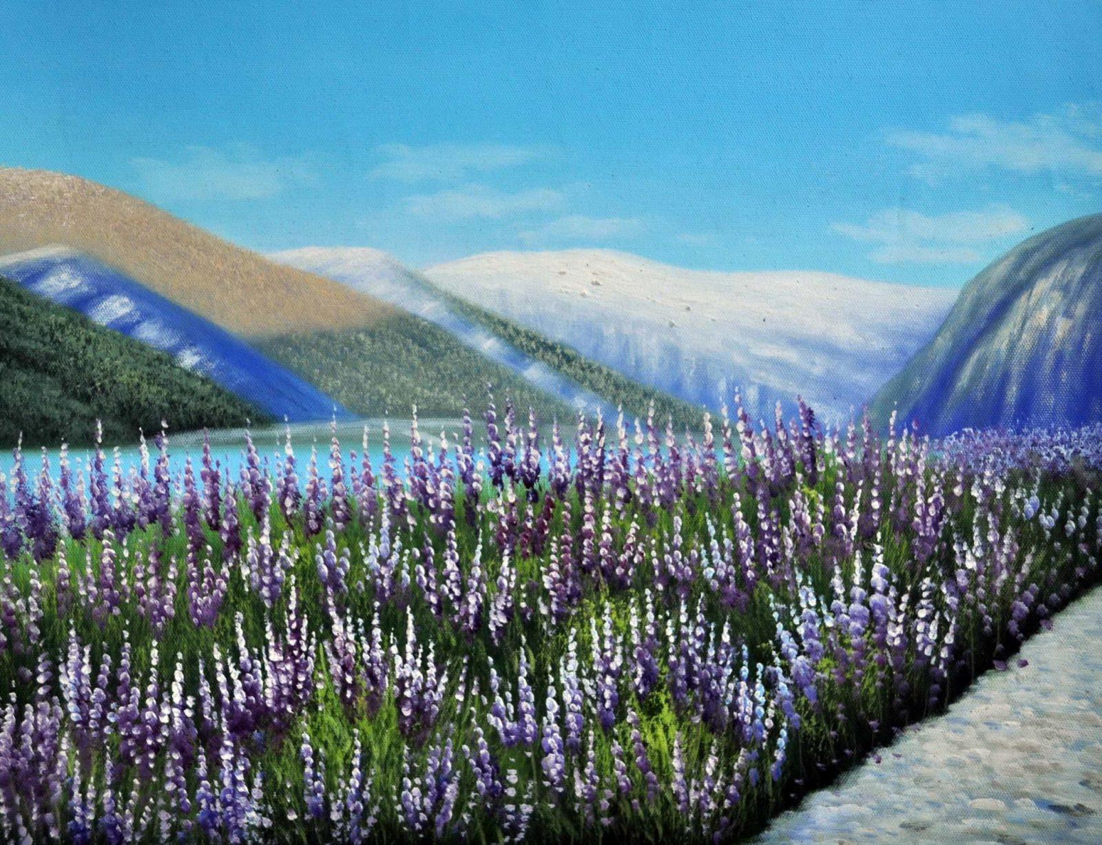«Лаванда в горах» картина 30х40 арт.3П32