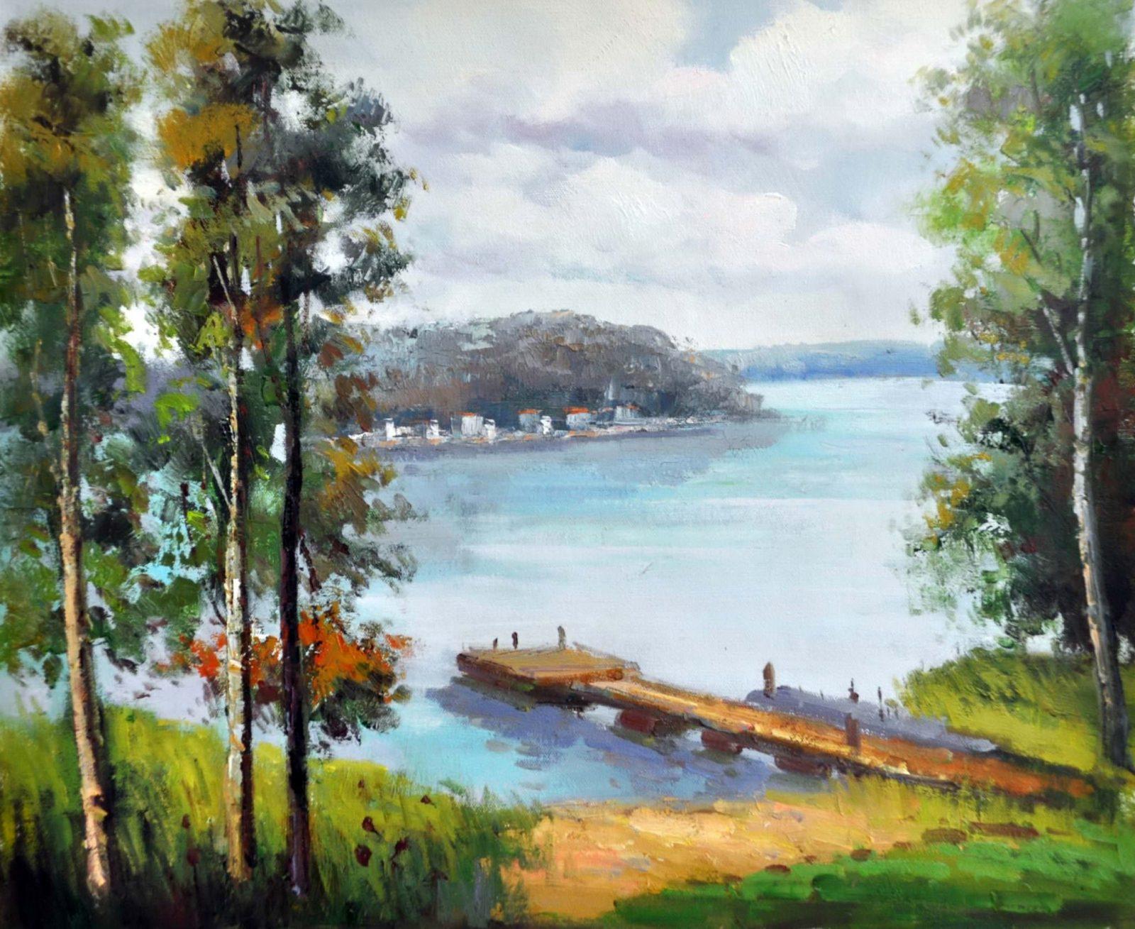 «Волга» картина 50х60 арт. 5П15