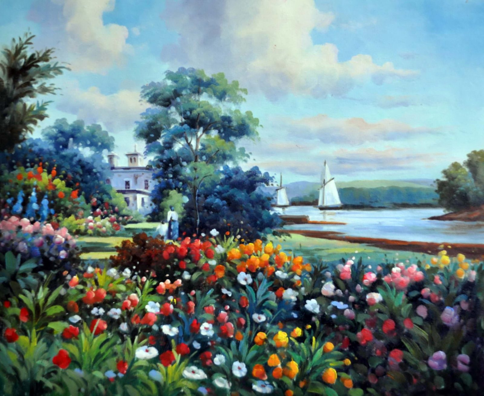 «За городом» картина 50х60 арт. 5П41