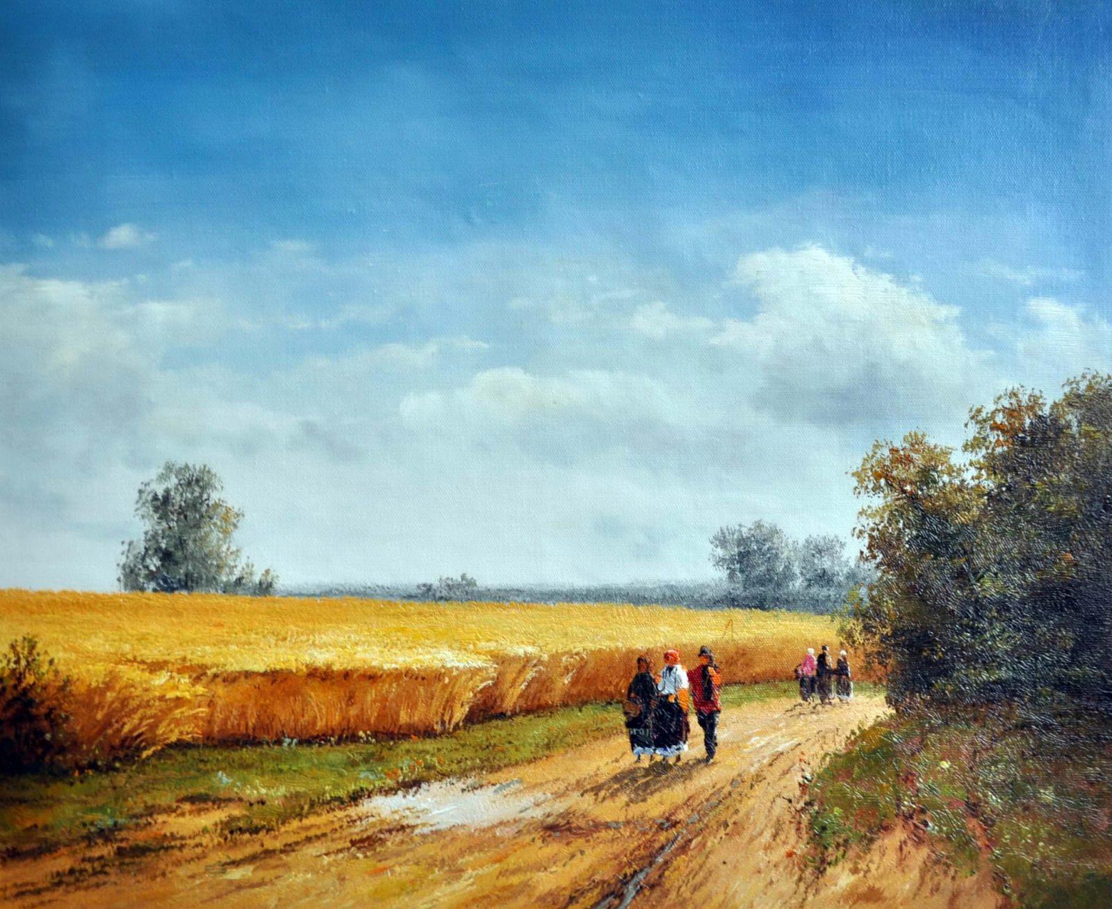 «Сельский пейзаж» картина 50х60 арт. 5П53